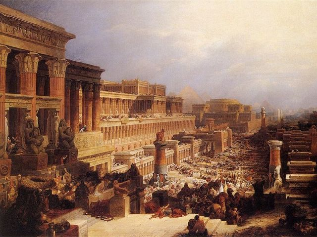 800px-David_Roberts-IsraelitesLeavingEgypt_1828
