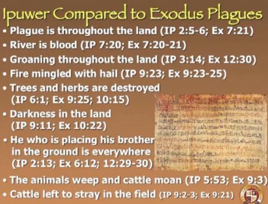 Ipuwer Exodus Comparison